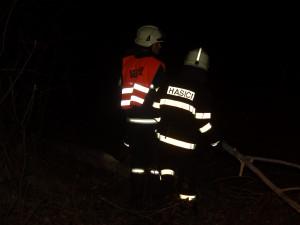 Vítr lámal stromy, hasiči se nezastavili