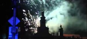 Slavnostní ohňostroj při oslavách 750 let od založení Českých Budějovic